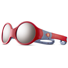 Julbo Loop M Spectron 4 Occhiali da sole Bambino, red/blue/grey flash silver